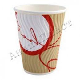 Стаканы бумажные 2-слойные Cuppoccino 300мл