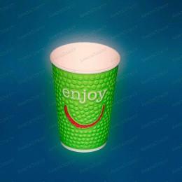 Стаканы бумажные 2-слойные Enjoy 300мл