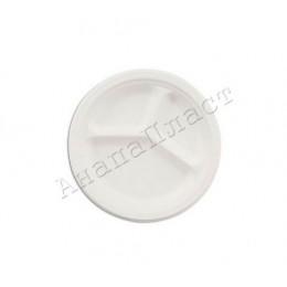 Тарелки бумажные 3-секционные белые 220мм
